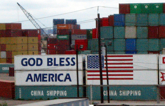 god bless america china shipping