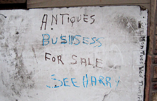 antiques businsess for sale see harry